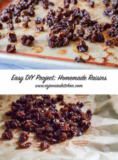 I know—it sounds crazy. Why make your own raisins? It's super easy, they taste AMAZING, and a great way to use up grapes hanging around the fridge. Get the recipe at In Jennie's Kitchen.
