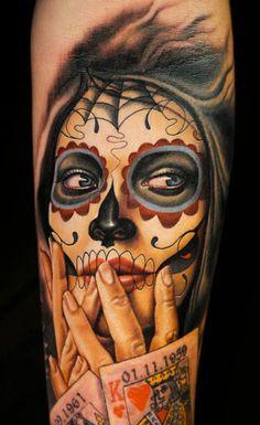 Tattoo Artist - Nikko Hurtado - muerte tattoo   www.worldtattoogallery.com