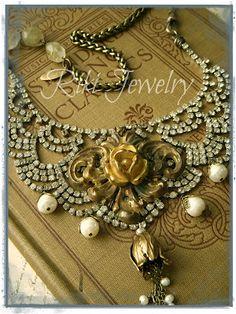 romantic relics, jewelry design, instructor at retreats Antique Jewelry, Vintage Jewelry, Quartz Crystal Necklace, Recycled Jewelry, Rhinestone Jewelry, Vintage Rhinestone, Jewelry Crafts, Jewelry Ideas, Women's Jewelry