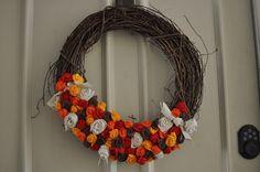 Nice wreath idea for fall/Thanksgiving
