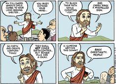 It's Christianity 101! :P - http://holesinthefoam.us/listentojesus/