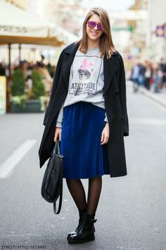 SOMETHING TO WEAR NOW: MIDI SKIRT & ANKLE BOOTS - STREET STYLE SECONDS