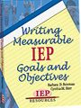 """n Writing Measurable IEP Goals & Objectives, learn a new way to write IEP goals """"that is simple, useful, worthwhile, and legally correct."""""""