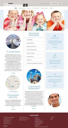 Página web de clínica dental Casanova25 http://www.casanova25.com