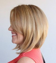 Blonde Bob With Side Bangs