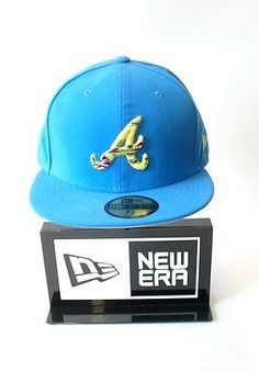 """New era #59fifty mlb atlanta #braves """"a"""" logo teal #yellow baseball hat fitted ca,  View more on the LINK: http://www.zeppy.io/product/gb/2/152226142639/"""