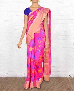 Chanderi Silk Sarees CSVT005 - Pure Silk Sarees