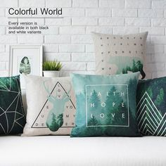 Geométrica Almofada travesseiro Verde, Nórdico geométrica almofada Travesseiro, fronha De Linho Xadrez, almofadas do sofá Almofadas decorativas para casa em Almofada de Home & Garden no AliExpress.com | Alibaba Group