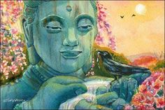 Peaceful Encounter Crow / Buddha