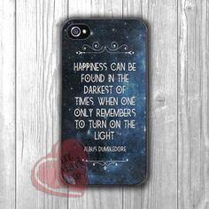 Harry Potter Albus Dumbledore Found Happiness Quote - 1dL for iPhone 6S case, iPhone 5s case, iPhone 6 case, iPhone 4S, Samsung S6 Edge