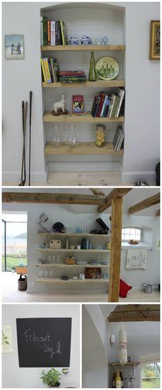 Sådan kan du udnytte pladsen i en døråbning + #tavlemaling på væg