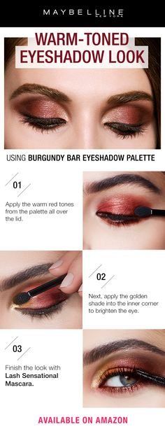 Looking for the hottest spring trend this season? In search for the perfect prom eye shadow look? The Maybelline Burgundy Bar palette is everything you need this season. It holds 12 burgundy-infused shades in shimmer and matte formula so you can create any eye look in a few easy steps!