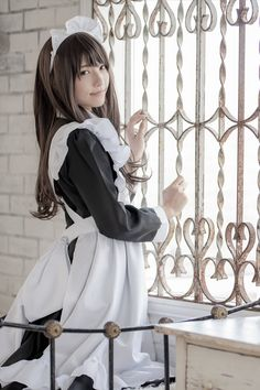 Miku Cosplay, Asian Cosplay, Best Cosplay, Cosplay Girls, Maid Outfit, Maid Dress, Cute Asian Girls, Cute Girls, Cute Young Girl