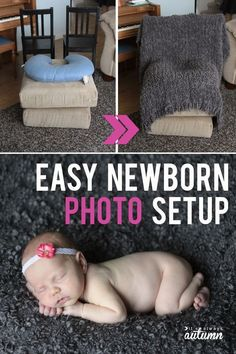 How to set up a home photo studio! Get great photos in your own home with these easy photo set ups.