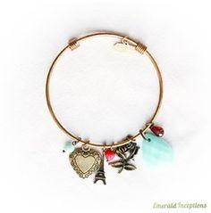 Love Aqua Red Gold Bracelet Bangle