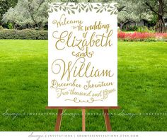 Wedding Welcome Sign PRINTABLE Wedding Sign by soumyasinvitations