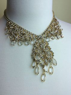 Stunning rhinestone and crystal princess necklace