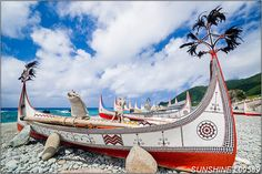 Aboriginal Canoes in Orchid Island (Lanyu) #Taiwan  蘭嶼
