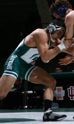 The Michigan State wrestling team will play host to Eastern Michigan in the 2013-14 home opener on Thursday, Nov. 21 at 8 p.m. in Jenison Field House. The Spartans enter the dual with a 3-1 record after last weekend's competition at the Eastern Michigan Duals. Watch Live (Big Ten Digital Network)
