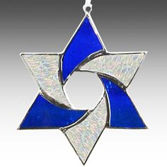 Star Of David, Stained glass suncatcher .