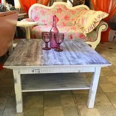 Konferenčný stolík ošetrný voskom a maľovaný ekologickými farbami Table, Furniture, Vintage, Home Decor, Decoration Home, Room Decor, Tables, Home Furnishings, Vintage Comics
