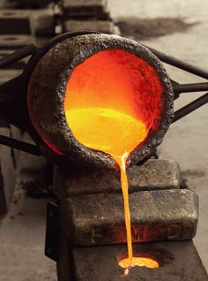 Dad used to pour hot metals in a foundry for a living.  Hard work and toxic.