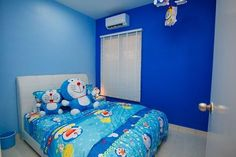 The living room is a place designed to entertain guests, also often functioned as a gathering place for families. Blue Bedroom, Girls Bedroom, Bedroom Decor, Bedroom Ideas, Doraemon, Line Timeline, Anime Fnaf, Live Laugh Love, Cool Rooms