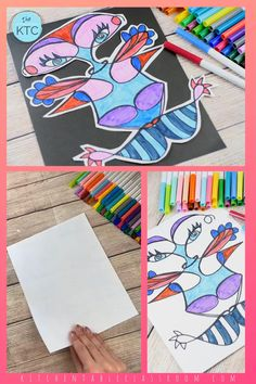 Use a simple trick to teach about the concept of symmetry and create this symmetrical name monster! #symmetry #art concepts Name Art Projects, Art Education Projects, Art Education Lessons, Classroom Art Projects, Art Lessons Elementary, Art Classroom, Kids Name Art, Art For Kids, Kid Art