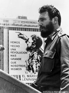 Feliz 90 Comandante - Fidel Castro speaking to crowd in Havana, Cuba.