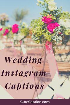 #instagramcaptions #instagrambios #cuteweddingcaptions #weddingcaptions #captions #wedding Wedding Captions For Instagram, Instagram Wedding, Wedding Humor, Table Decorations, Wedding Dresses, Cute, Bride Dresses, Bridal Gowns