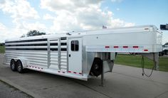 4-Star 26' x 8' wide Low Pro GN Stock Trailer - Click on the photo to find your closest Authorized 4-Star Dealer in Texas! (800) 848-3095