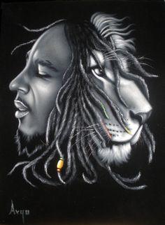 Bob marley music legend Iron Lion black velvet by VelvetPaintings, $130.00