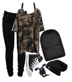 """Untitled #843"" by zoey-likes-muffins ❤ liked on Polyvore featuring Dollydagger, Converse and Rains"