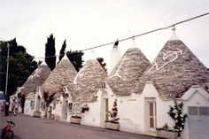Trulli houses in Puglia-found in the Itria valley in the Apulian region of southern Italy. Some foundations can be traced back to the Neolithic period.
