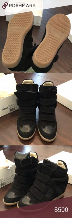 SEEN ON BEYONCE Isabel Marant Black Bekett Boots AS SEEN ON MANY CELEBRITIES LIKE BEYONCE, Alessandra Ambrosio, Ashley Simpson, etc! RARELY WORN LIKE NEW Isabel Marant sneaker-boots, authentic and comes with dustbag and box! Please no trades or offers, price is firm! 💕 Isabel Marant Shoes Heeled Boots