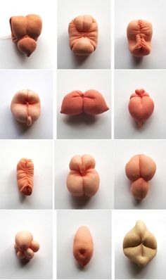 "Cecile Dachary, ""12 fétiches érotiques"" which kind of look like my balloon animals in flesh color"