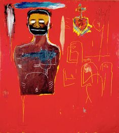 "'Basquiat and the Bayou,' By Franklin Sirmans, and 'Jean-Michel Basquiat: Now's the Time,' Edited by Dieter Buchhart - book review by HOLLY BASS. The New York Times. *** ""Untitled (Cadmium),"" 1984; oil, oil stick and acrylic on canvas. Credit The Estate of Jean-Michel Basquiat/Société des Auteurs dans les Arts graphiques et plastiques, Paris/Artist Rights Society"