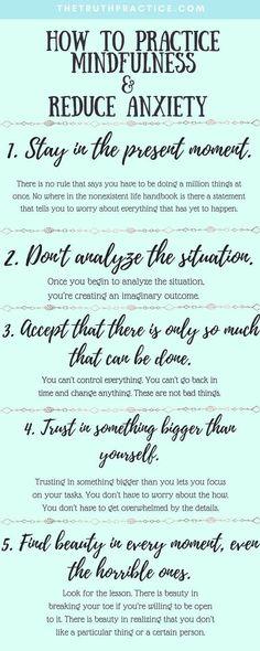 practice mindfulness
