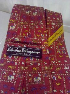Christmas Ferragamo Men's Necktie  Vintage Silk by thecityloft, $65.00