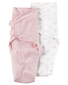Baby Girl 2-Pack Babysoft Swaddle Blankets