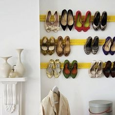 a beautiful way to display & store your shoes