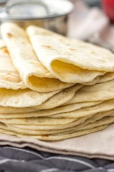 Easy flour tortillas from scratch elevate tacos, enchiladas, burritos, and more. Made in the stand mixer or by hand with just 5 simple ingredients. Homemade Flour Tortillas, Recipes With Flour Tortillas, Corn Flour Tortillas, Making Tortillas, Mexican Dishes, Mexican Food Recipes, Ethnic Recipes, Crepes, Bread Recipes