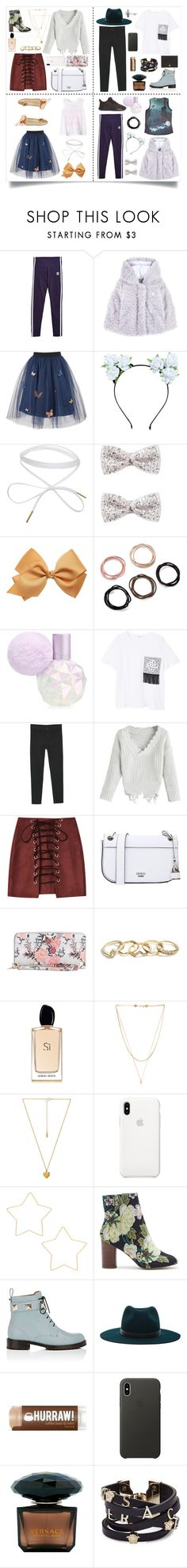 """""""The Whole Damn Family ✌️🌈"""" by littlewhitedaisy ❤ liked on Polyvore featuring Disney, adidas Originals, George J. Love, Spiritual Gangster, Forever 21, MANGO, GUESS, Giorgio Armani, Vanessa Mooney and Natalie B"""