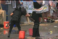 That is how the Egyptian authorities treat women :( from #Rabaamassacre