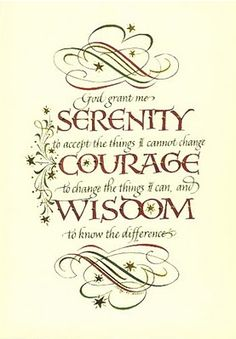 "AA Serenity Prayer | RECOVERY TABLE"" Spiritual Awakening, Alcoholism and Addiction ..."