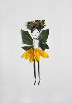 How cute is this idea of making your own nature paper dolls? #craft #kidscraft #leaf Simply gather some leaves and petals and create fun hairdo's, clothes and so much more. Be as colourful and creative as you like! Via Mer Mag