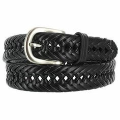 Wolverine Men's Braided Leather Belt