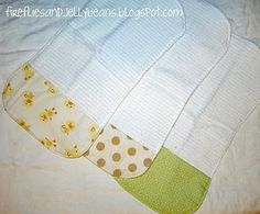 Cutie burp cloth tutorial. Perfect for the one million showers I'm going to now-a-days :)