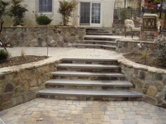 Patio Stairs with Cap