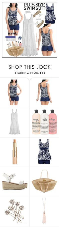 """wantdo.com 8..."" by cindy88 ❤ liked on Polyvore featuring Calypso St. Barth, philosophy, Estée Lauder, Steve Madden, Flora Bella, Oasis and Elizabeth and James"